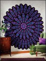 I want to make this!Cathedral Rose, Rose Windows, Crochet Afghans, Rose Afghans, Windows Afghans, Crochet Pattern, Afghans Pattern, Crafts, Stained Glasses