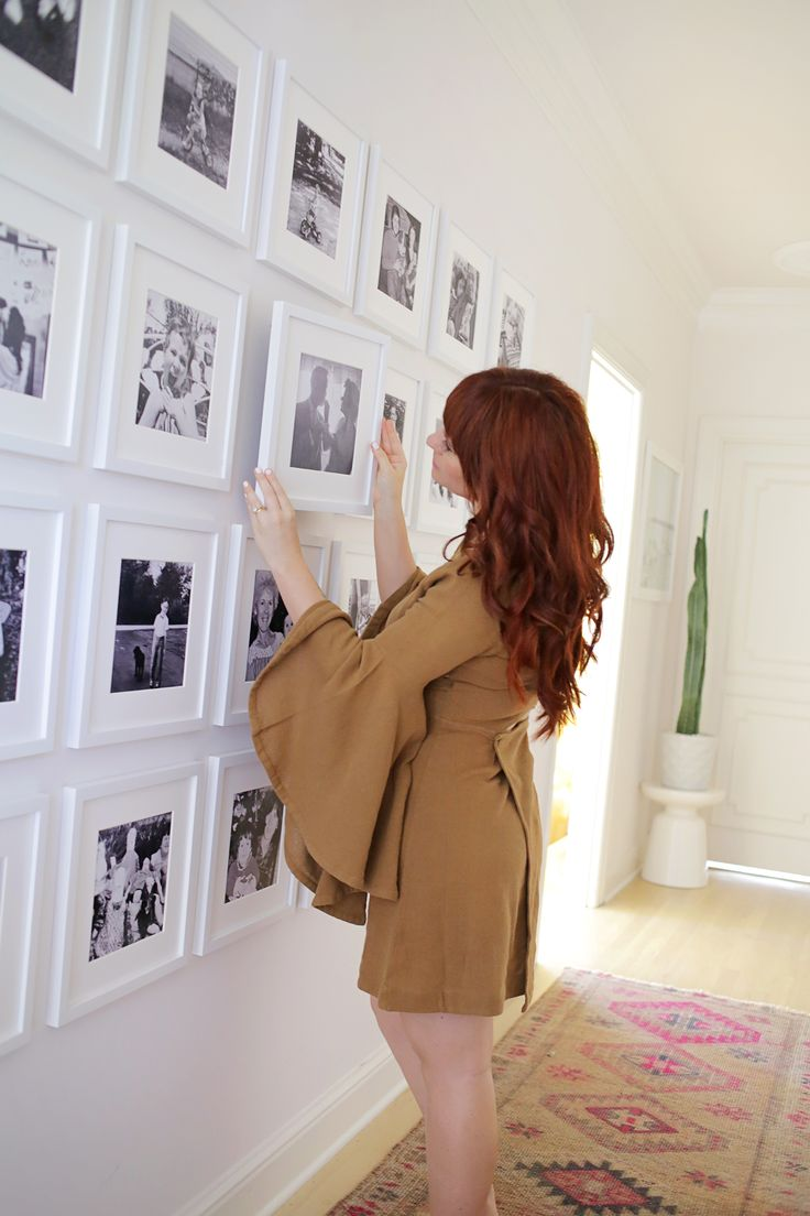 Create a family gallery wall on a budget! Working with @CanonUSA #CraftywithCanon #sponsored