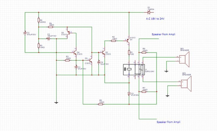 How To Make Speaker Protector Circuit With Dc Protection