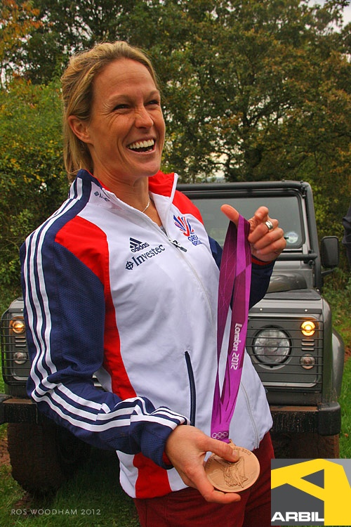 GB Olympic Bronze Medalist Crista Cullen loves Land Rovers! [PIC]