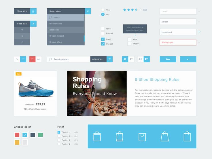 This is a small ui kit #ui #design #ecommerce