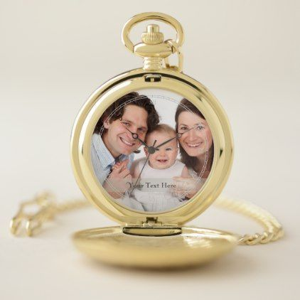 Photo Family Personalized Pocket Watch - kids kid child gift idea diy personalize design