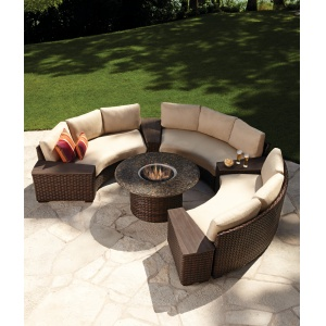 Contempo Curved Sectional At The Great Escape Fire Tablefire Pit Patio