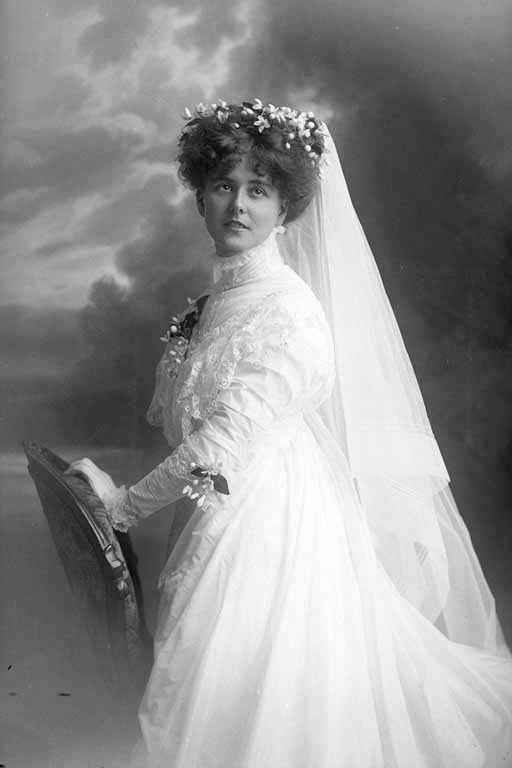 1909 Wedding portrait of Mrs Price.