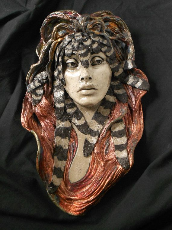 "Raku ""Small Bird"" Trail of Tears Series Wall Hanging or Wall Pocket by Leslie Ahrens on Etsy, $425.00"
