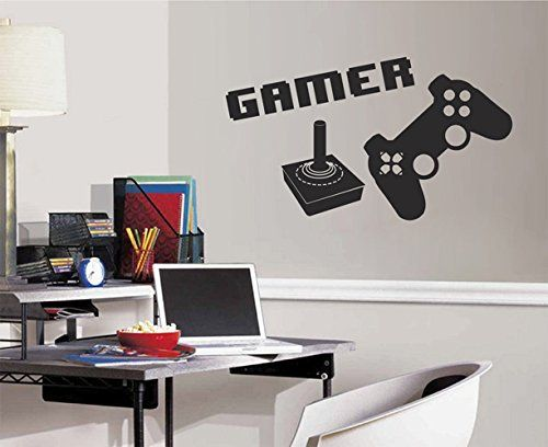 ik2544 Wall Decal Sticker joystick controller Xbox 360 Game PS4 player bedroom teens. Vinyl wall decals are one of the latest trends in home decor. Vinyl wall decals give the look of a hand-painted quote, saying or image without the cost, time, and permanent paint on your wall. They are easy to apply and can be easily removed without damaging your walls. Vinyl wall decals can be applied to walls, doors, windows, cars, or any other solid,smooth or semi-textured surface. Please know that…
