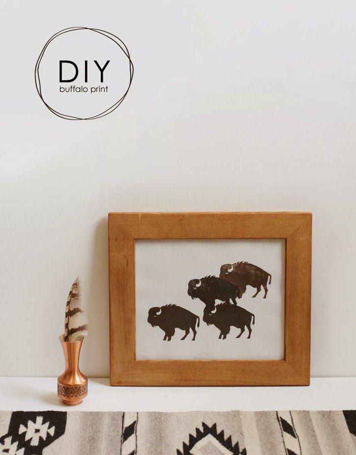 An easy to make DIY Buffalo Print