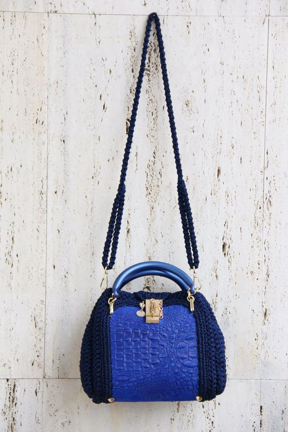 borsa donna mini Polli pelle cordino tracolla di PaolaCollection