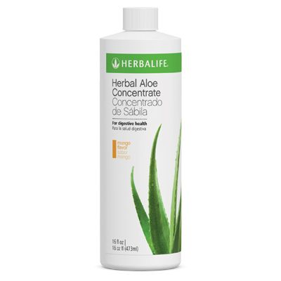 Herbal Aloe Concentrate contains aloe that soothes the stomach and supports nutrient absorption and intestinal health.