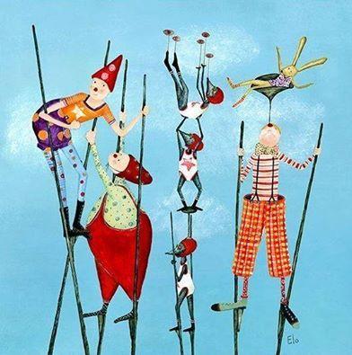 Trampoli-Stilts-Zancos-Echasses-Stelzen's photo.