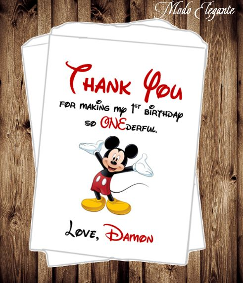 Mickey Mouse - Birthday Favors - ONEderful - First Birthday - Mickey Birthday - Personalized Favor Bags - Candy Buffet - Mickey and Minnie Birthday