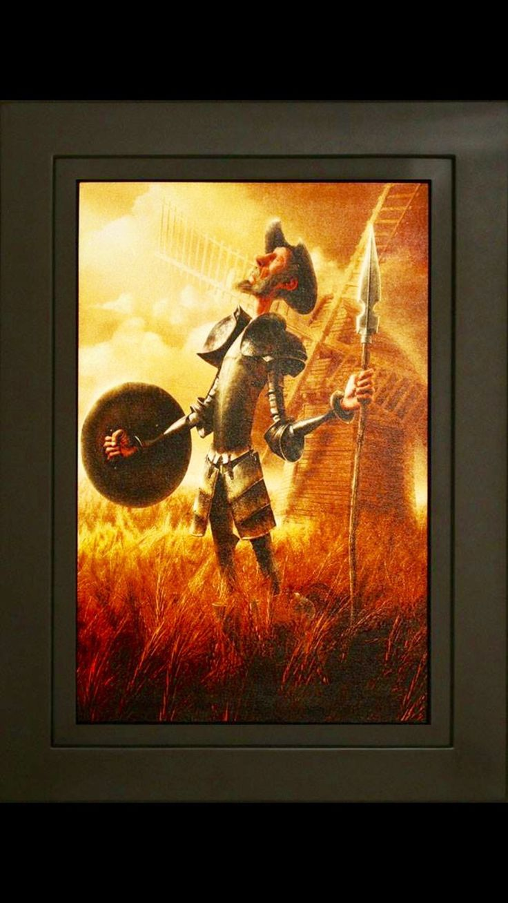 Don Quijote al oleo sobre canvas | Pinturas