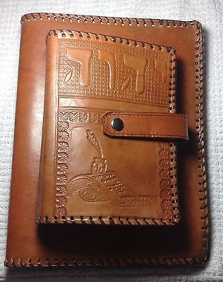 Jehovah's Witness MINISTRY FOLDER WITH BIBLE HOLDER ATTACHED CARAMEL