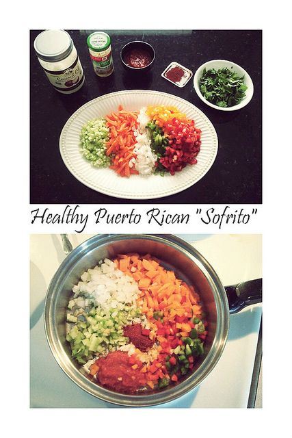 "Puerto Rican ""Sofrito"" on Flickr. Coconut Oil Minced Garlic Tomato ..."