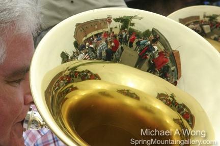 Tuba reflection 4th of July parade, 2010