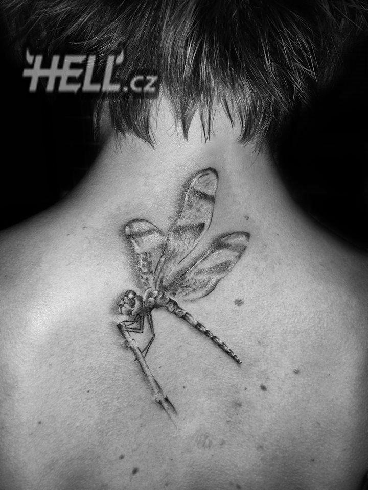 Dragonfly tattoo by Lukáš @ Hell.cz, Prague - Tetování vážka