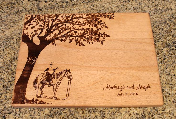Personalized Cutting Board Equestrian Cutting Board Equine | Etsy