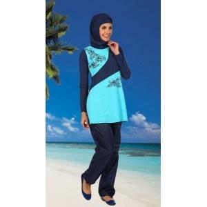 Lovely modest swimwear with sparkly rhinestones www.hijabnow.com