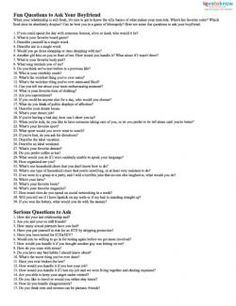 Top 20 Questions To Ask A Guy