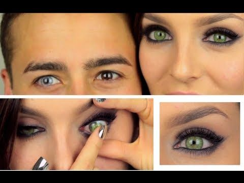 Coloured Cosmetic Contact Lenses Review: DESIO - YouTube
