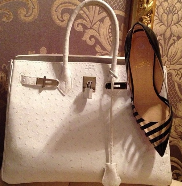 White ostrich leather Hermes Birkin bag | J\u0026#39;aime Hermes ...