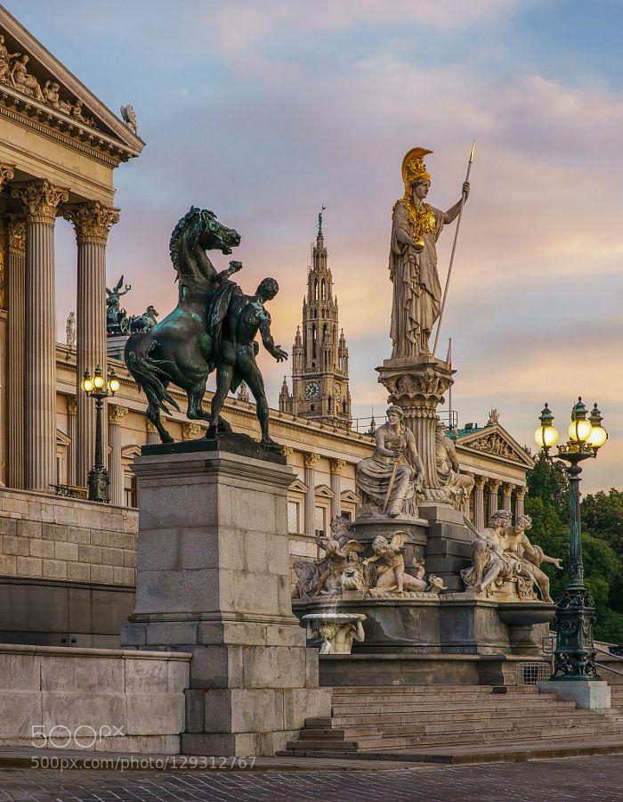 Viennese Parliament Building, Vienna, Austria | EarthAndTravel.com