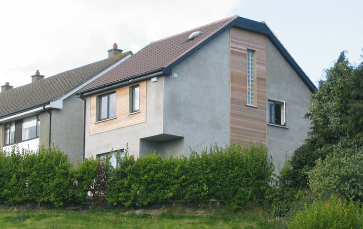 This a 3-storey house, situated on a left-over site to the side of an existing house in a council estate. Low carbon design with high levels of insulation and an air-to-water heat pump heating system. The design is intended to fit-in with its neighbours whilst having a distinct personality of its own.