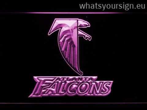 Atlanta Falcons 1998-2002 – Legacy Edition - LED neon light sign made of the highest quality clear plastic and glowing colorful illumination. The neon sign displays exactly the same from all angles thanks to the carving with the newest 3D laser engraving process. This LED neon sign is a great gift idea! The neon is provided with a metal chain for displaying. Available in 3 sizes in following colours: Yellow, Blue, White, Purple, Orange, Green and Red!