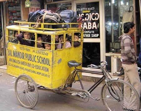 yellow school.......tricycle new delhi