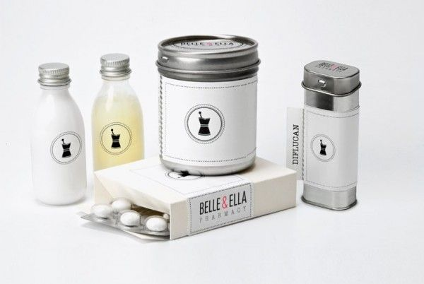 I absolutely love this branding for an exclusively women's boutique pharmacy named Belle and Ella.