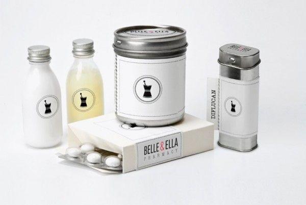 Bell and Ella Pharmacy Packaging 05Elle Pharmacy, Pharmacy Packaging, Packaging Design, Packaging Inspiration, Ella Pharmacy, Brand Identity Design, Belle, Design Archives, Creative Packaging