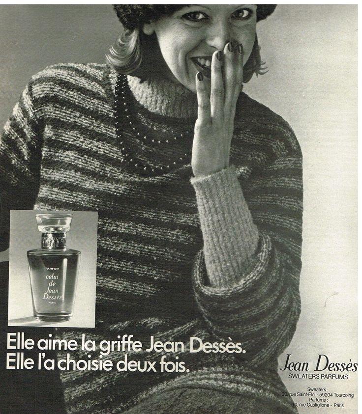 Jean Desses Sweaters Parfums 1976