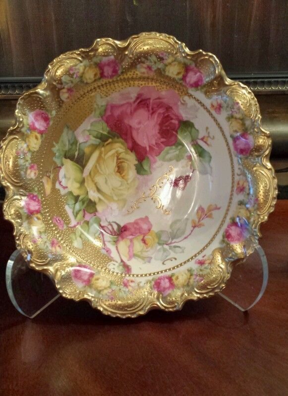 Nippon  Gold with Roses Bowl****a tad overdone****