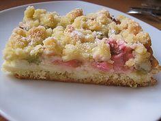 Rhabarberkuchen mit Quarkcreme und Streuseln (Rezept mit Bild) | Chefkoch.de