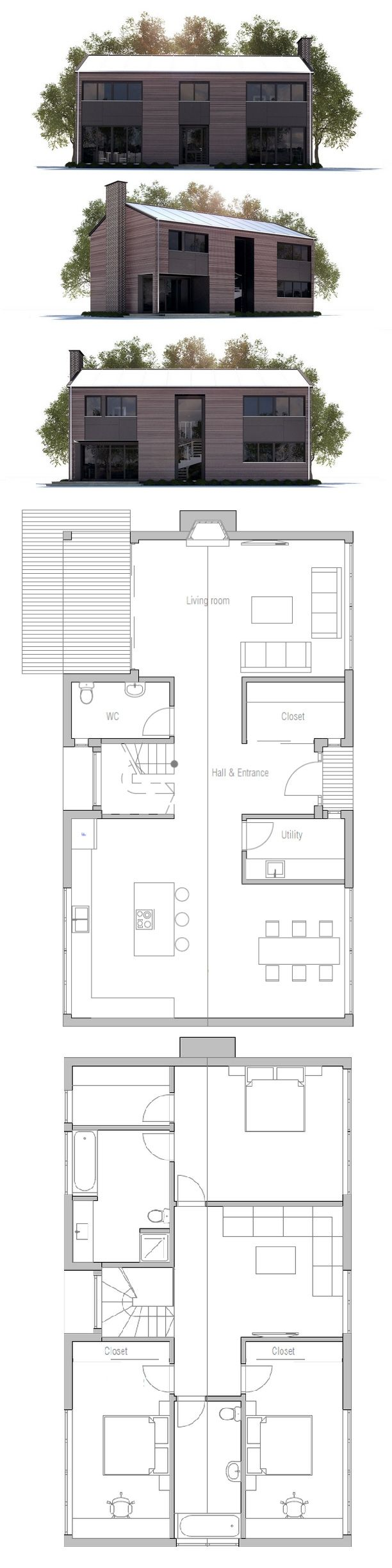 Small Modern House Floor Plan 434 best