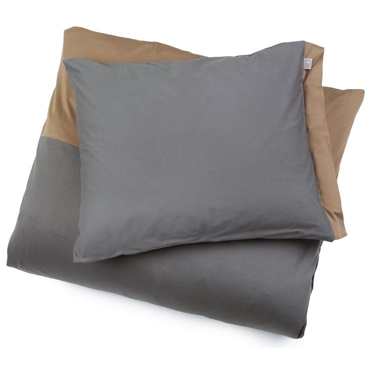 Fold Coffee/Smoke påslakan, dubbel i gruppen Textil / Sängkläder / Påslakan hos RUM21.se (129411)