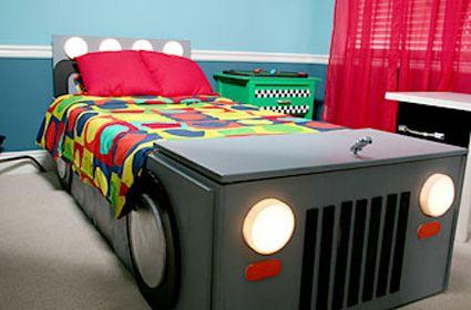 Como hacer una cama con forma de coche | Habitaciones Tematicas