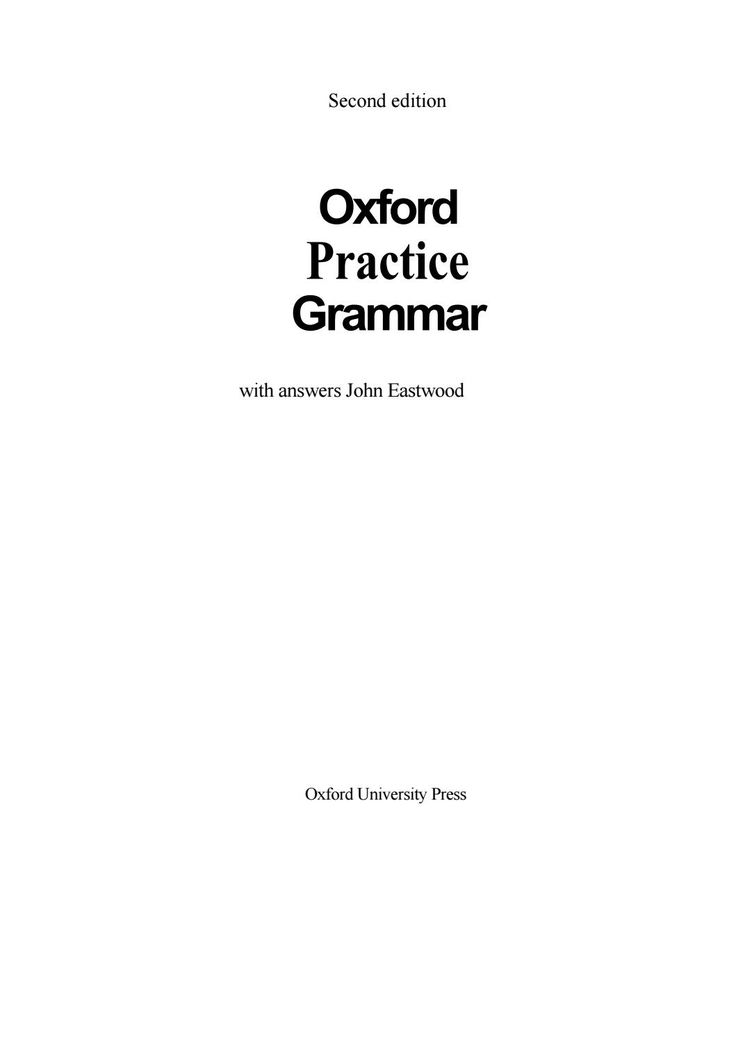 Oxford university press oxford practice grammar with answers