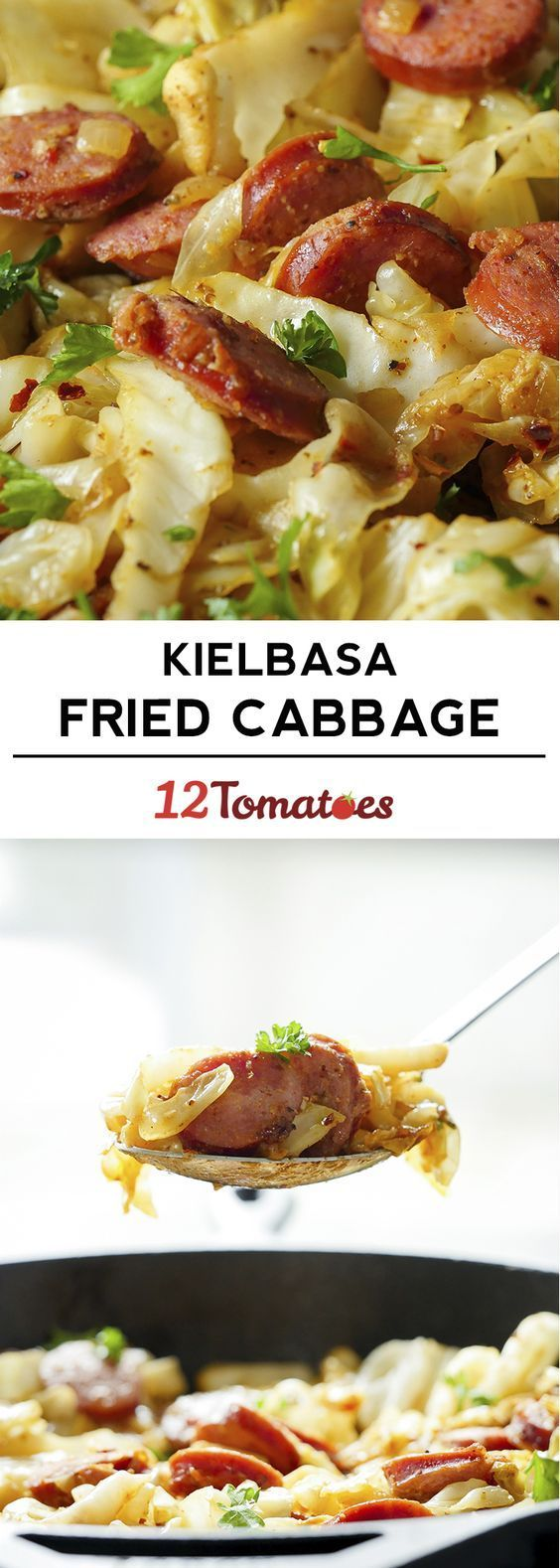 Cabbage & Kielbasa Skillet. Easy and my husband liked it. I panicked about the liquid level and added chicken broth - which wasn't needed and diluted the flavor, so I had to make adjustments; won't make that mistake again.
