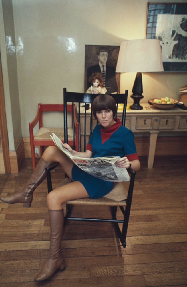 "christopherbarnard: ""Mary Quant at home, 1967 """
