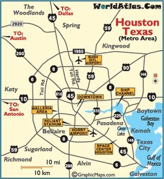 City Map Of Houston Texas