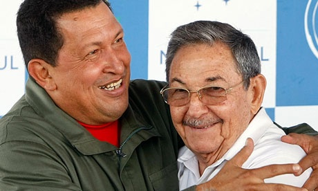Raúl Castro, president of Cuba, right, seen in 2008 with Hugo Chávez, could be a cautious but willing partner for Barack Obama in establishing improved international relations. Photograph: Evaristo Sa/AFP/Getty Images