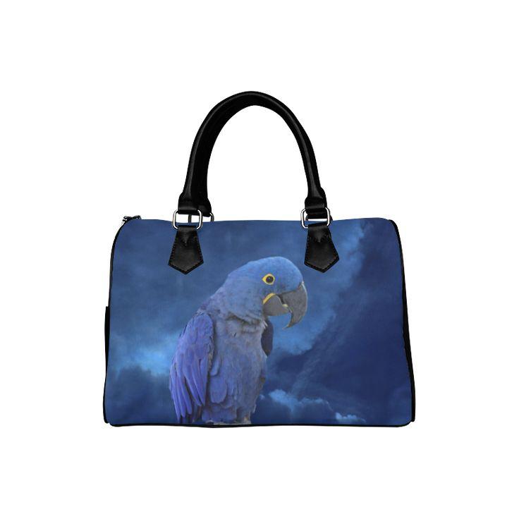 Hyacinth Macaw Boston Handbag. FREE Shipping. #artsadd #bags #parrots