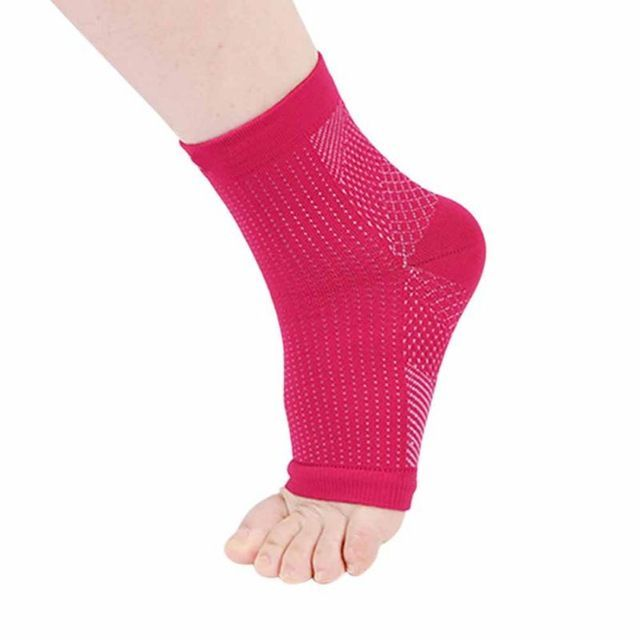 56bb97bd70 Men Women Ankle Support Running Cycling Basketball Sports Foot Angel Anti  Fatigue Compression Foot Sleeve Socks Protector Review