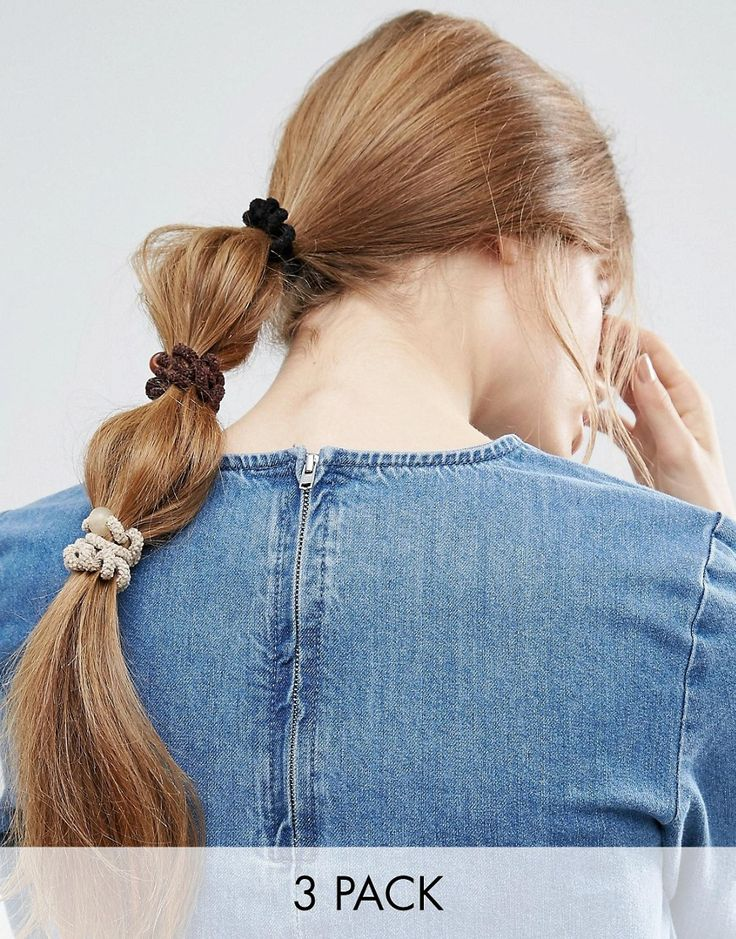 Limited Edition Pack of 3 Fuzzy Coil Hair Bands - Multi