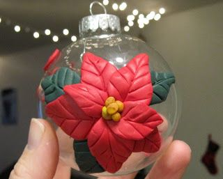 Creator's Joy: Polymer clay on Glass Ornaments