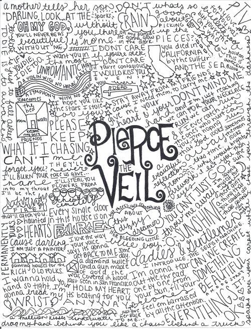 pierce the veil lyrics <3