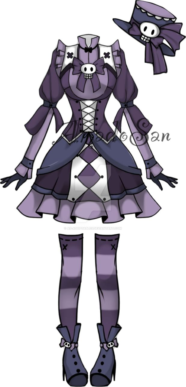 Gothic Victorian outfit adoptable  CLOSED by AS-Adoptables