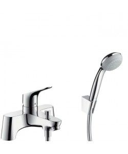 Hansgrohe | Focus | Bath Mixer Tap Single Lever with Shower head | Low Pressure | Deck Mounted | free delivery