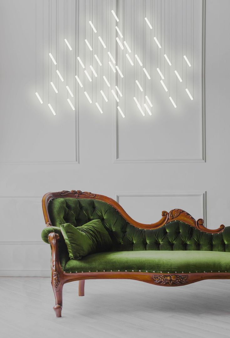 LED porcelain chandelier with dimmer RAINY DAY | @beauetbien